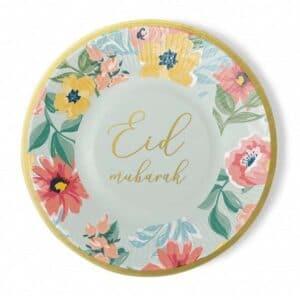 Lot de 6 assiettes Eid Mubarak