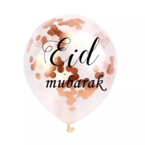 6 ballons Eid Mubarak 30cm